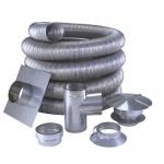 Газоходы гофрированные из нержавеющей стали и другие комплектующие