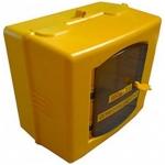 Ящик для счетчика газа G-6 (универсальный 200-250мм) разборный (300х250х210мм) пластик, желтый